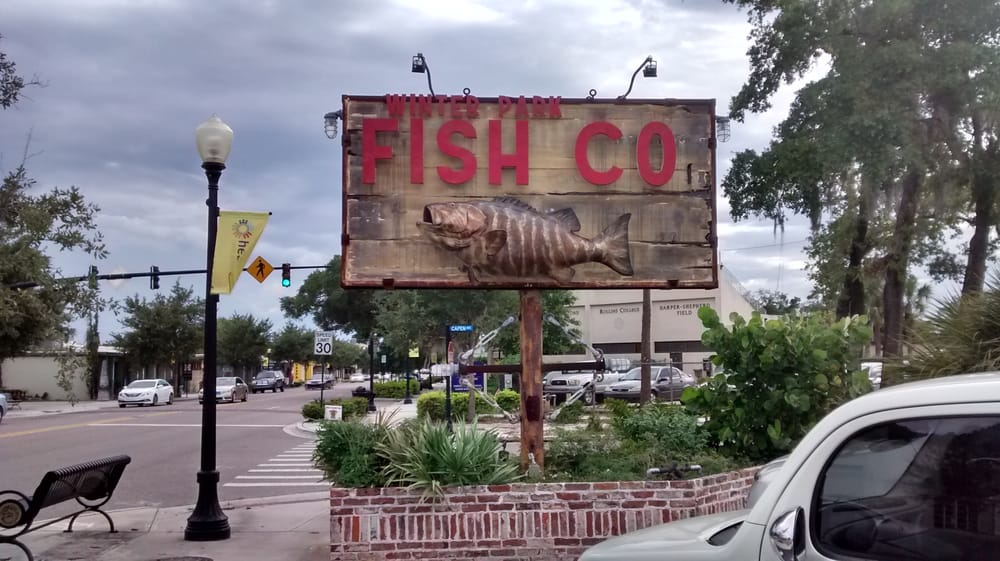 The sign yelp for Winter park fish company
