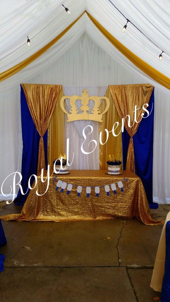 Main Table Backdrop Sequins Baby Shower Royal Prince Yelp