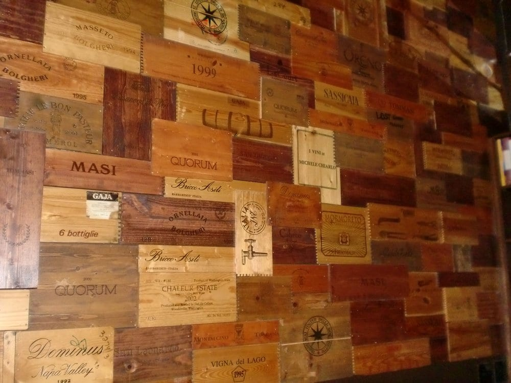 Wine crates on the wall yelp for Where to buy used wine crates
