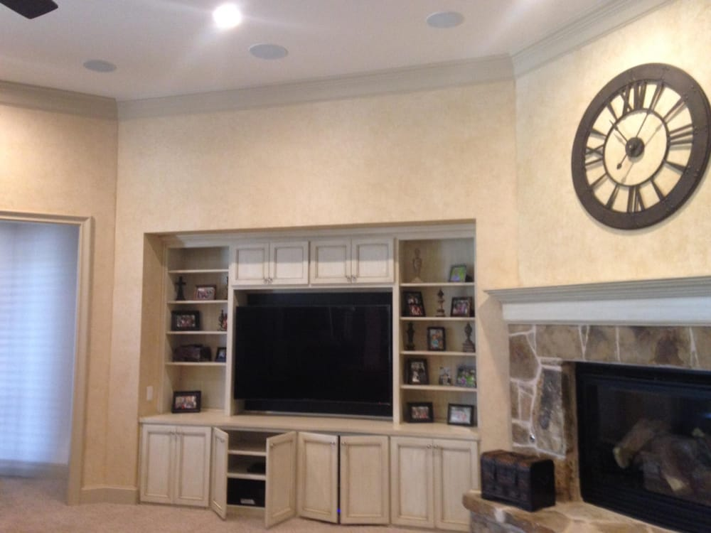 65 Quot Curved Samsung Tv Mounted With Full Motion Mount And 7