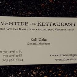 Eventide Restaurant logo