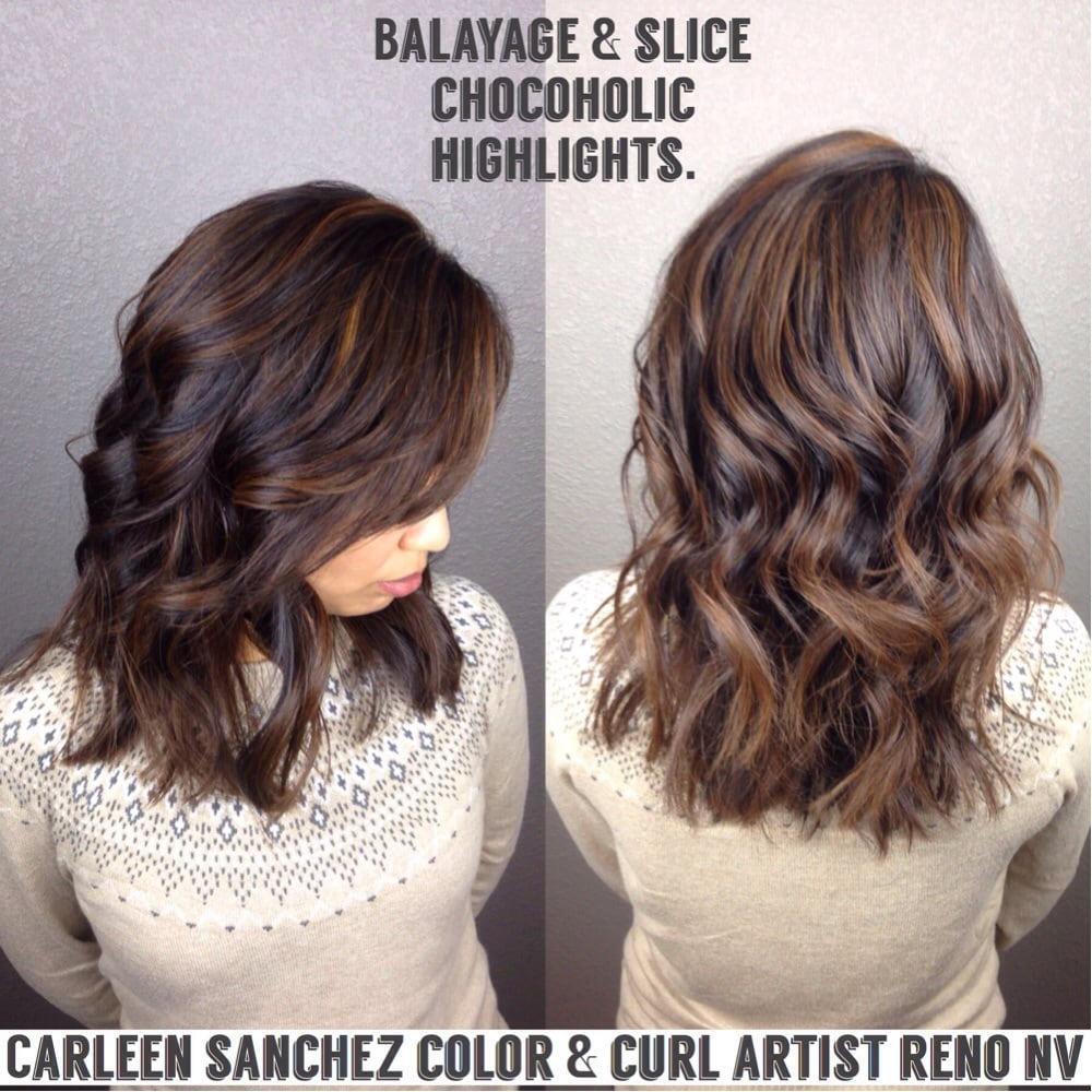 Mill Chocolate Balayage And Slice Techniques Used For This