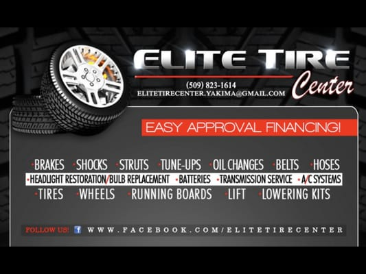 Elite Tire Center 1611 S 1st St Yakima, WA Auto Repair