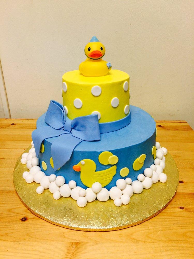 Yellow And Blue Baby Shower Cake Yelp