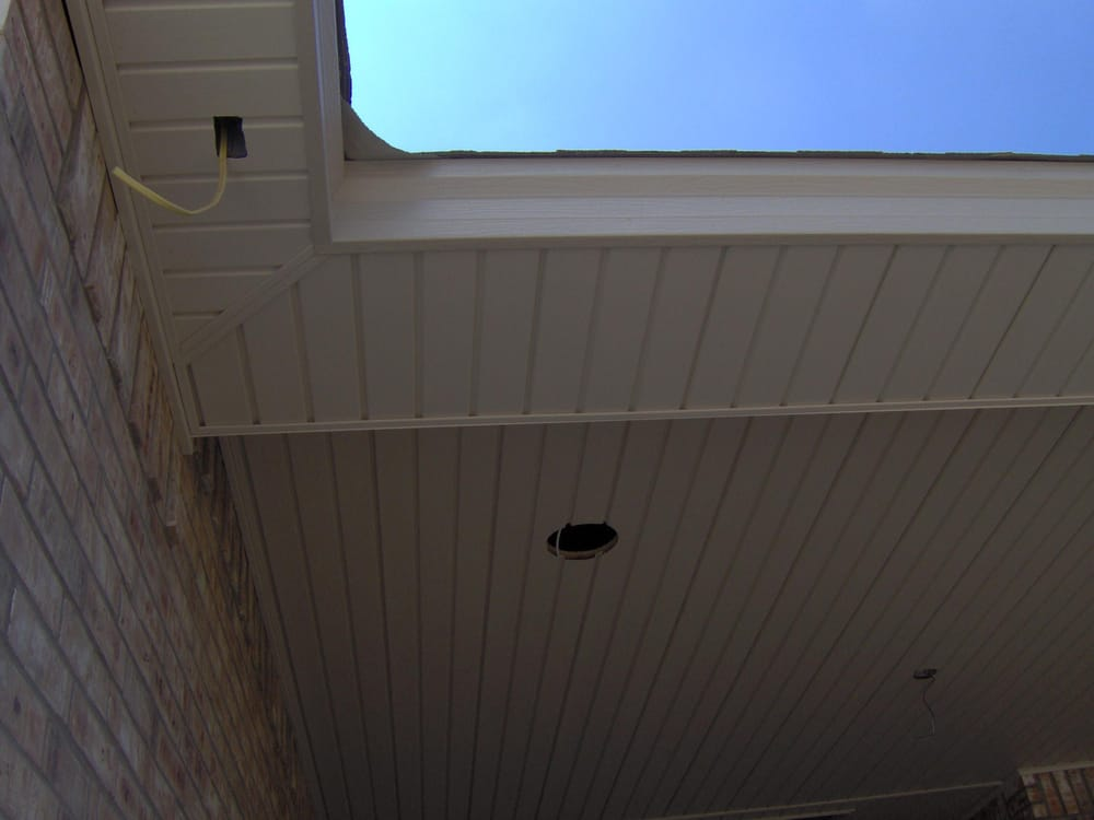 Steel Facia And Vinyl Soffit For Underneath Porches Patio