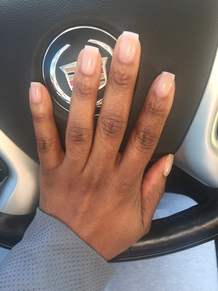 Natural nail overlay with acrylic and nail color by OPI - Yelp