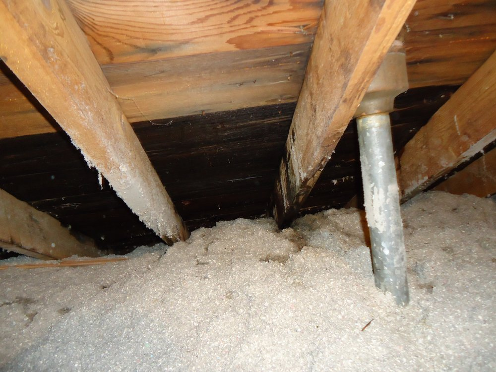 wet roof sheathing from attic view this is ongoing ice dam damage that is likely a mold concern. Black Bedroom Furniture Sets. Home Design Ideas