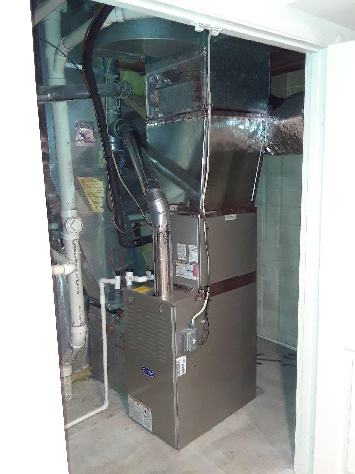 New Trane Hyperion air handler and Trane clean effects air cleaner