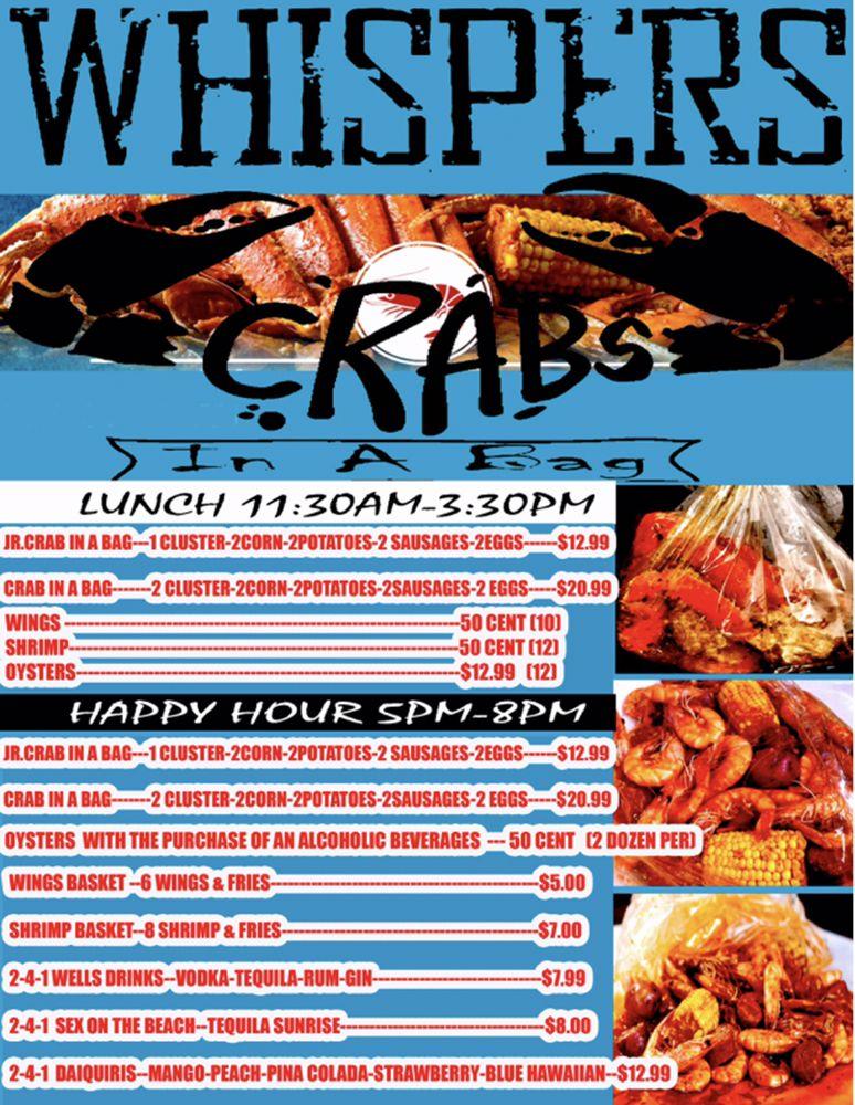 WHISPERS OYSTER BAR & CRABS: 1754 Wells Rd, Orange Park, FL