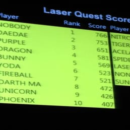 Clever laser tag names