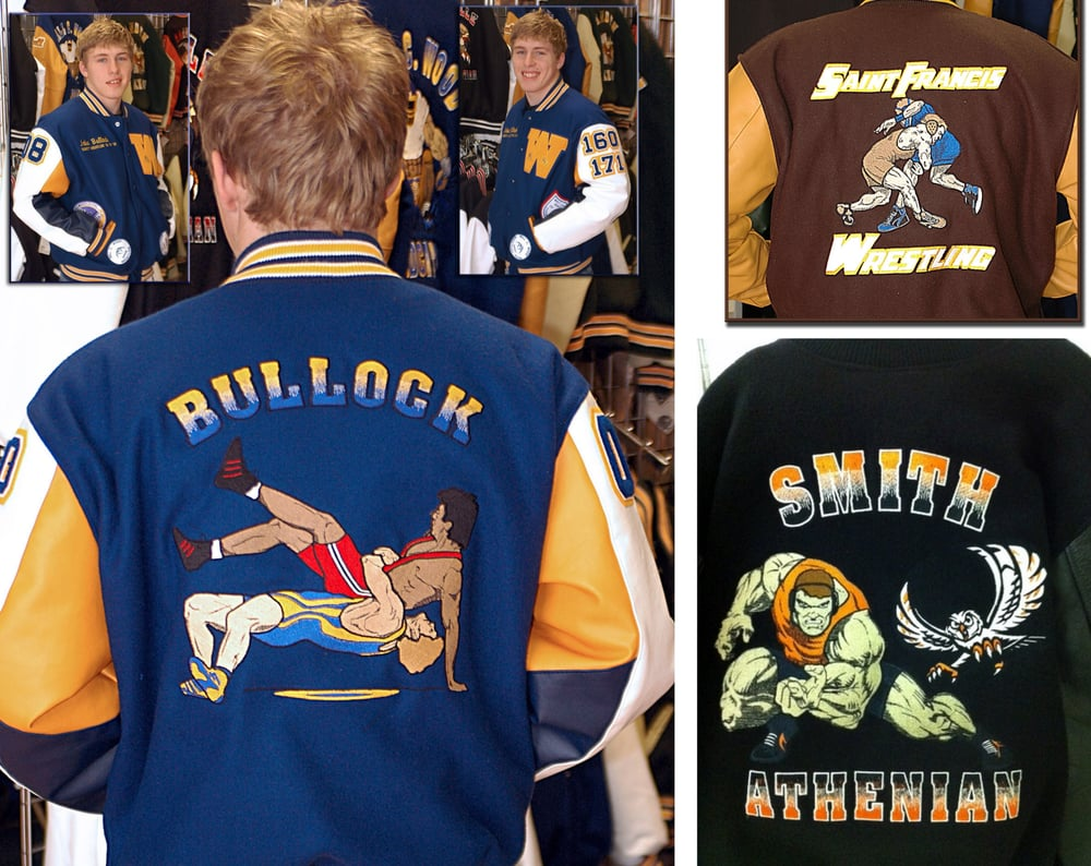 uk availability 7db4d 94670 Collage of wrestling jacket back designs. - Yelp