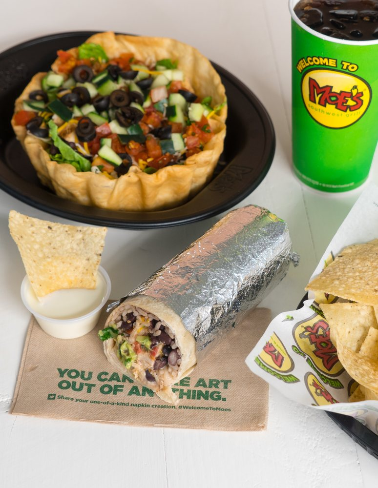 Food from Moe's Southwest Grill
