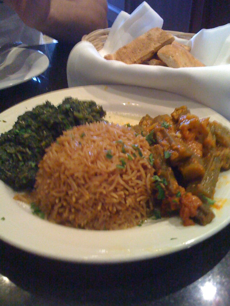 Okra spinach brown rice yelp for Aryana afghan cuisine