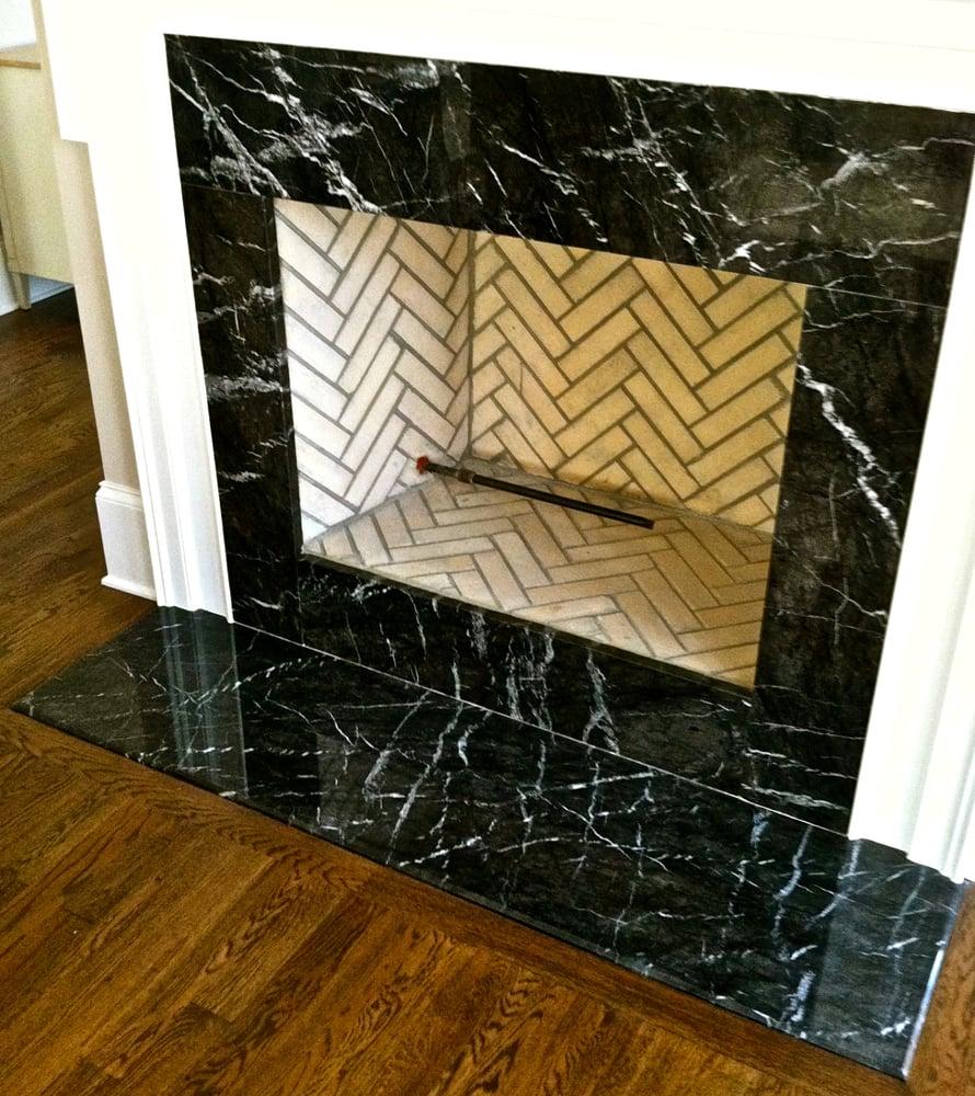 Stupendous Black Strype Granite Fireplace Surround Yelp Download Free Architecture Designs Scobabritishbridgeorg