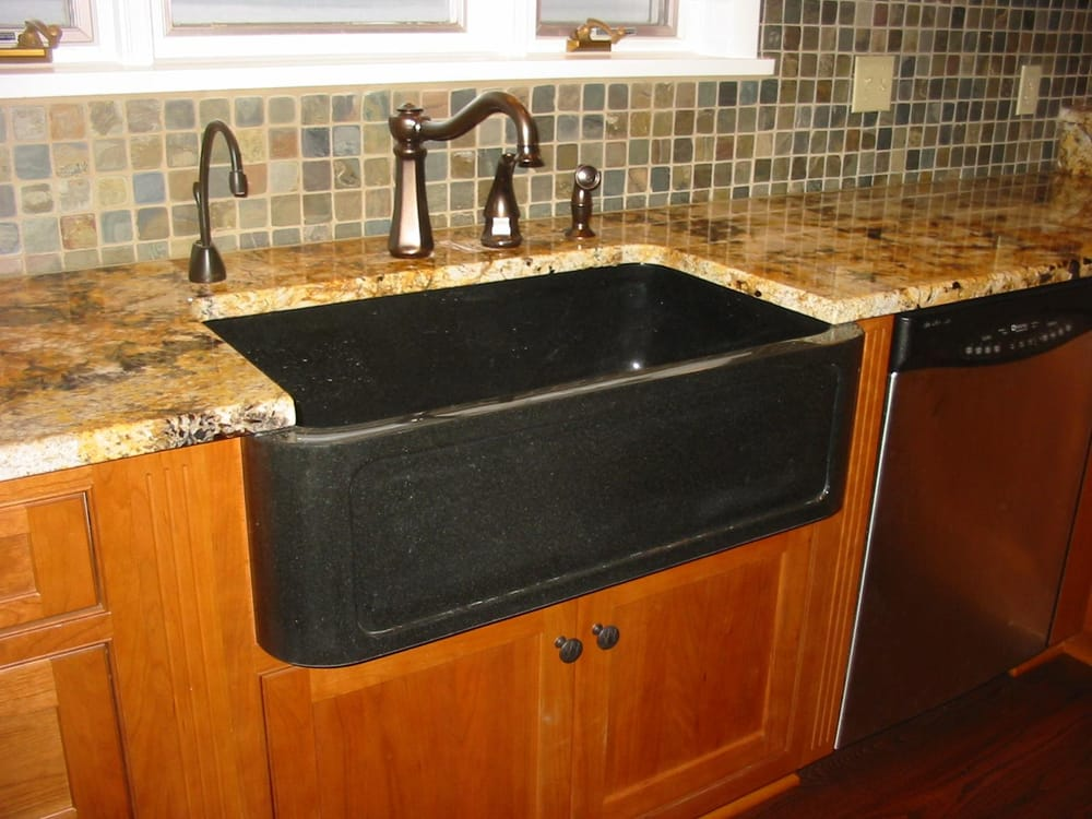 Granite Farm House Sink With A Granite Countertop Yelp
