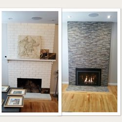 Photo Of Penguin Fireplace San Jose Ca United States Before And After