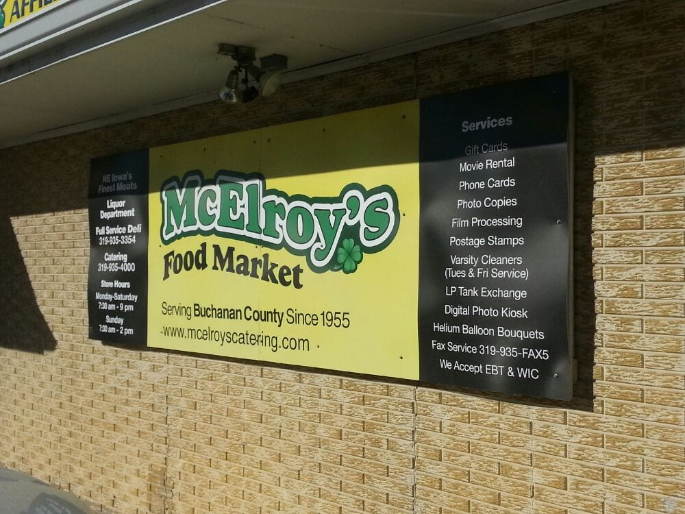 McElroy's Food Market: 135 W Madison, Winthrop, IA