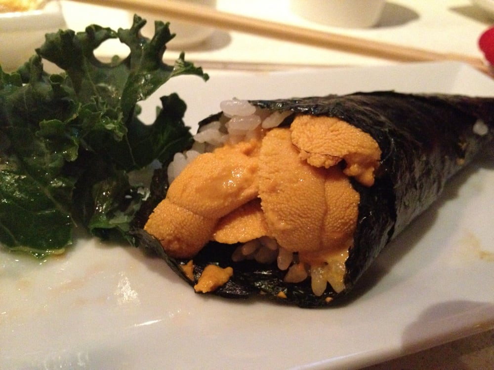 Uni sea urchin hand roll loved it yelp for Aka japanese cuisine