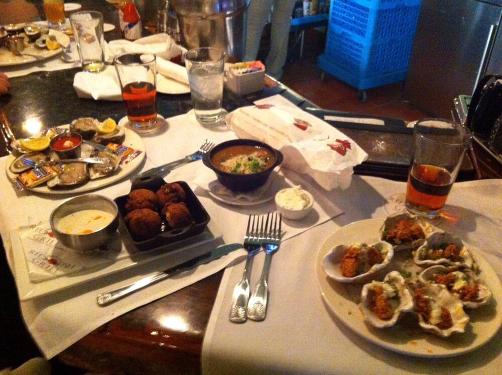 Oops forgot we had hush puppies too the food was good yelp for Red fish grill new orleans la