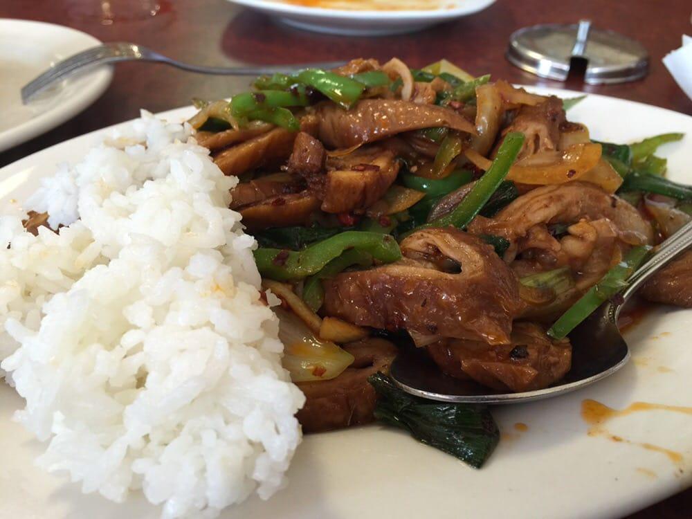 Spicy Pig Intestine Fantastic Dish And Great Presentation