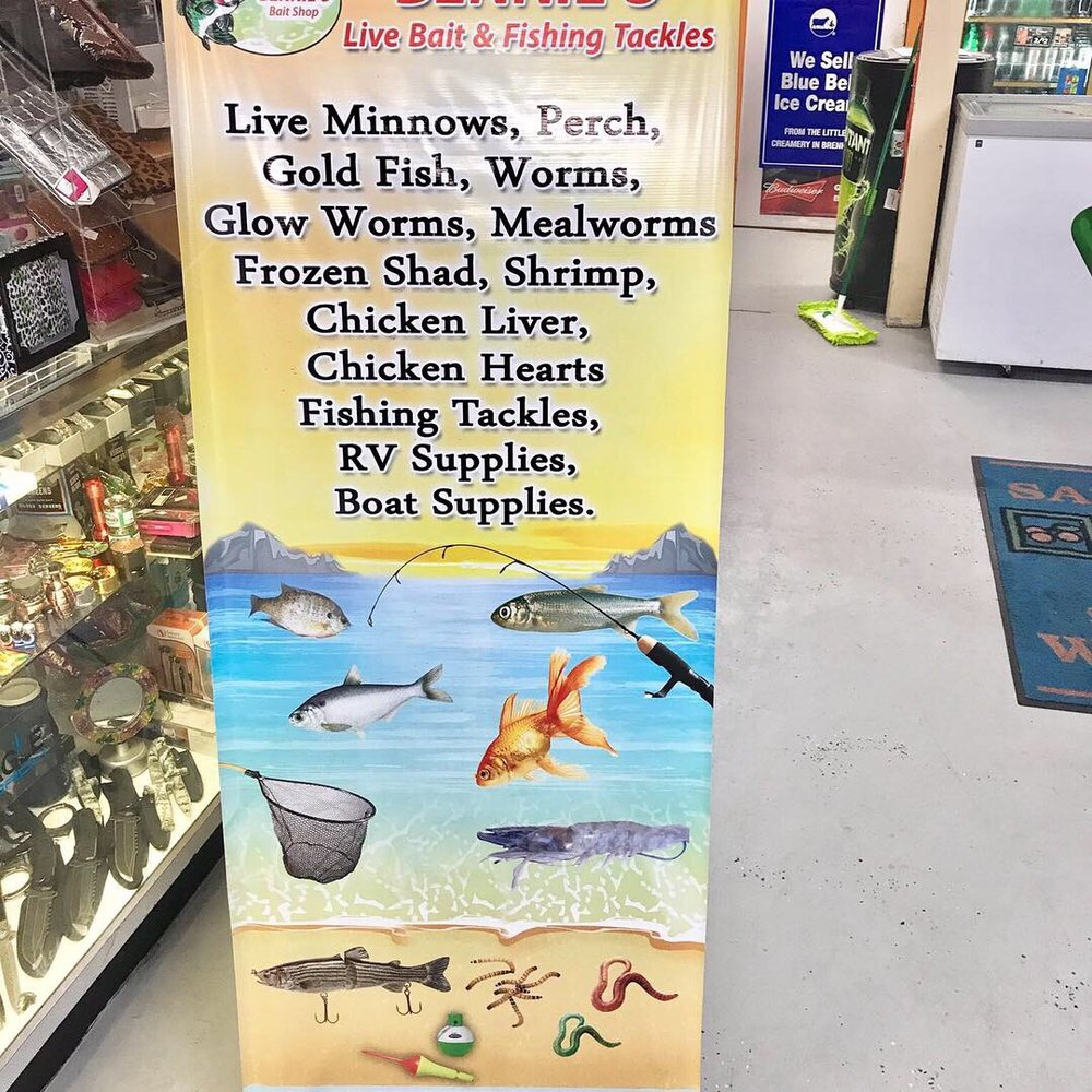 BENNIES Live Bait & Fishing Tackles - 11880 Fm 830rd, Willis
