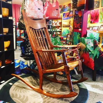 Peachy Koa Rocking Chair By Legendary Woodworker Yelp Machost Co Dining Chair Design Ideas Machostcouk