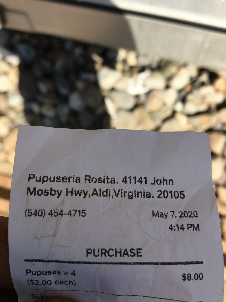 Pupuseria Rosita: 41141 John Mosby Hwy, Aldie, VA