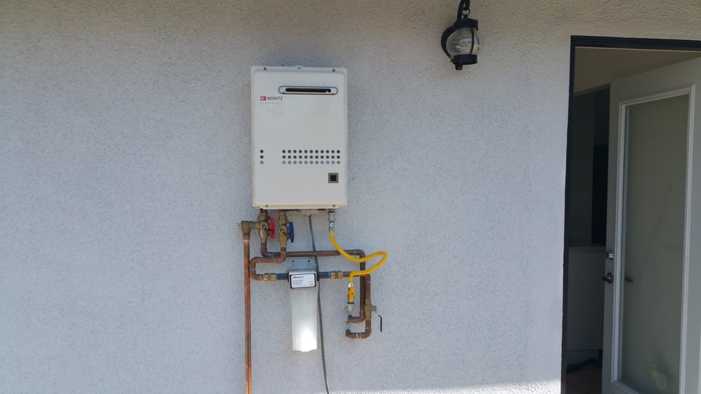Noritz Tankless Water Heater Install Outdoor Unit Yelp