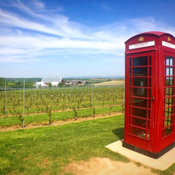 Photo of Luckett Vineyards - Wolfville, NS, Canada. Luckett Vineyard's famous phone booth