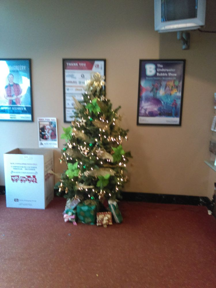 Christmas Tree In Ticket Office Yelp