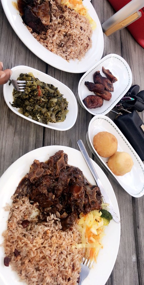 Food from Mikey's Jamaican Restaurant