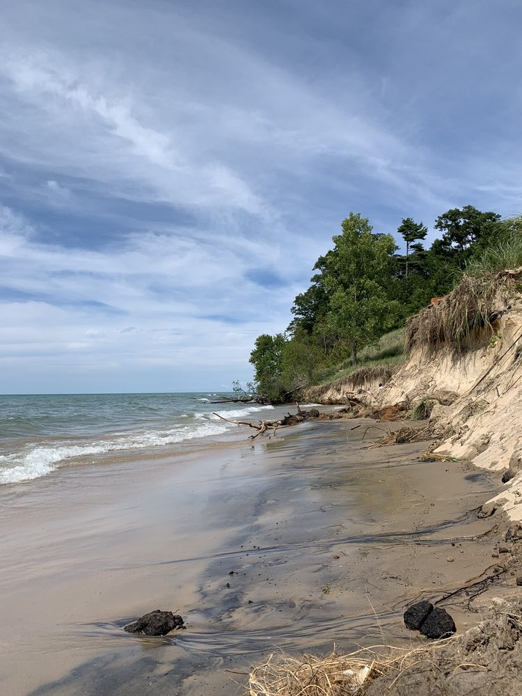 Roadside Park Beach Access: 6930 Blue Star Hwy, Coloma, MI