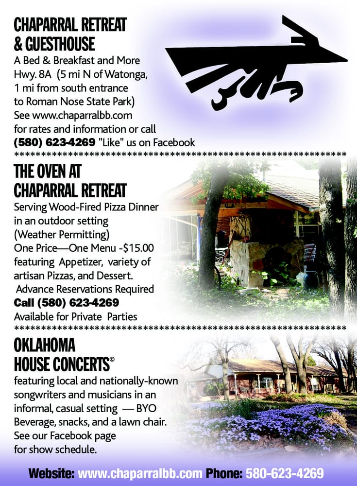 Chaparral Retreat and Guesthouse: 4978 Ok 8A, Watonga, OK