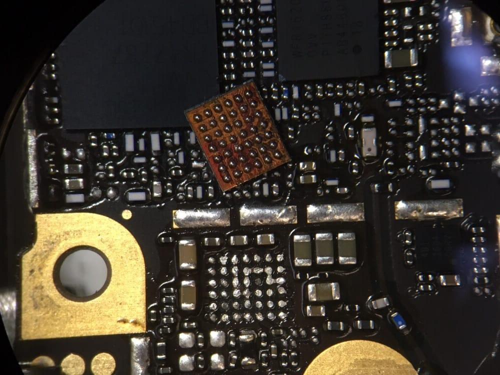 iphone no sound audio ic chip replaced on iphone 6 plus to fix no sound 3023