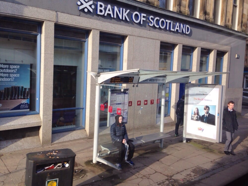 bank of scotland bancos y cajas 174 byres rd byres road glasgow reino unido n mero de. Black Bedroom Furniture Sets. Home Design Ideas