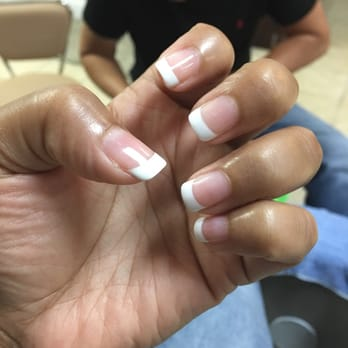 Photo Of Cute Nails Charlotte Nc United States French Manicure With Gel