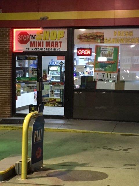 Stop 'N' Shop Mini Mart: 741 N Cedar Crest Blvd, Allentown, PA