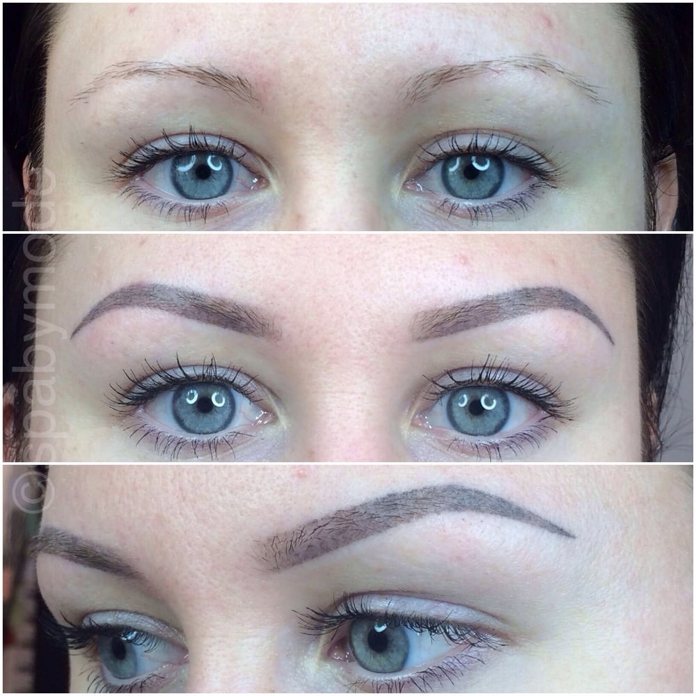 Eyebrow Tattoo Before And After: Eyebrow Soft-touch Permanent Make Up Before (top) And 8