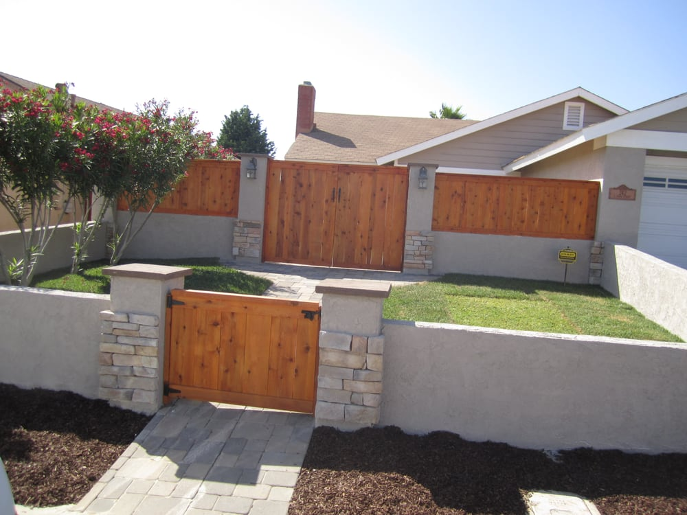 Block Wall Stucco Picture Frame Fence Landscaping Spring Valley Yelp