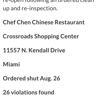 The Chinese Restaurant Of Kendall Miami Fl