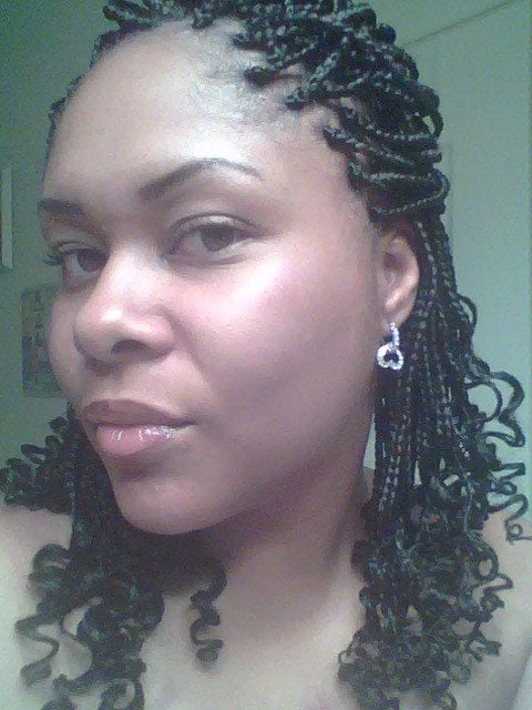 Image result for braids with curly ends