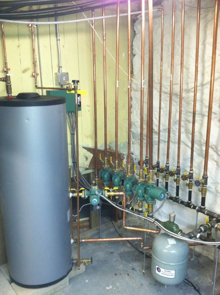 Seven zone header off of a Burnham Alpine boiler. Five zones of ...