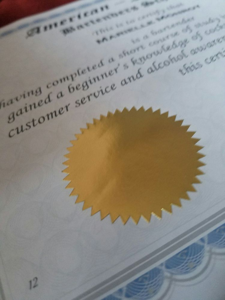 Bartending certification. - Yelp