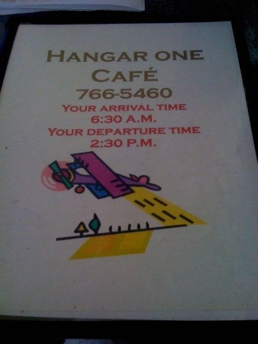 Hangar  Cafe Hemet Menu