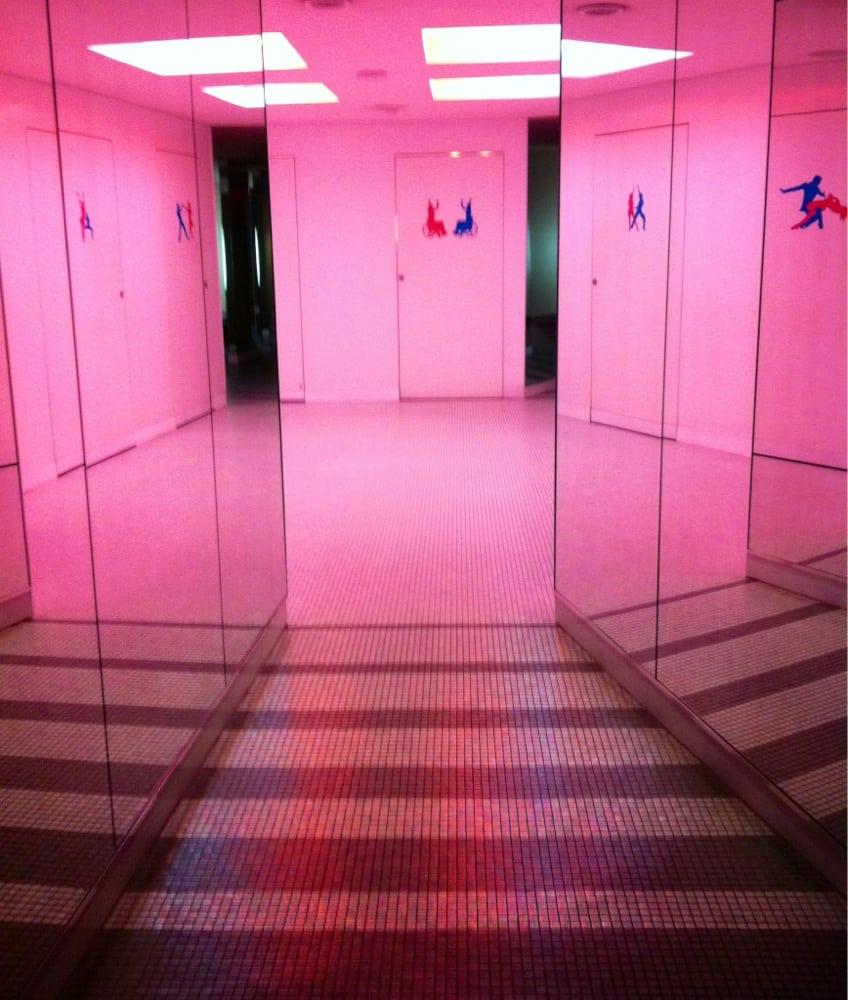 Mirrored Hallway Leading To Bathroom Yelp