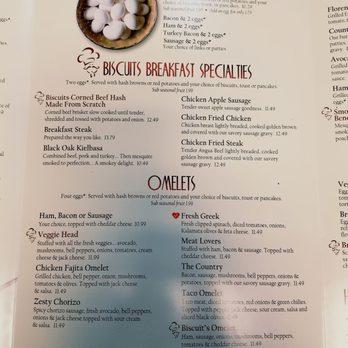 Biscuits Cafe Beaverton Menu