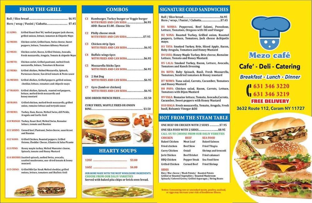 Mezo Cafe: 3632 Rt 112, Coram, NY