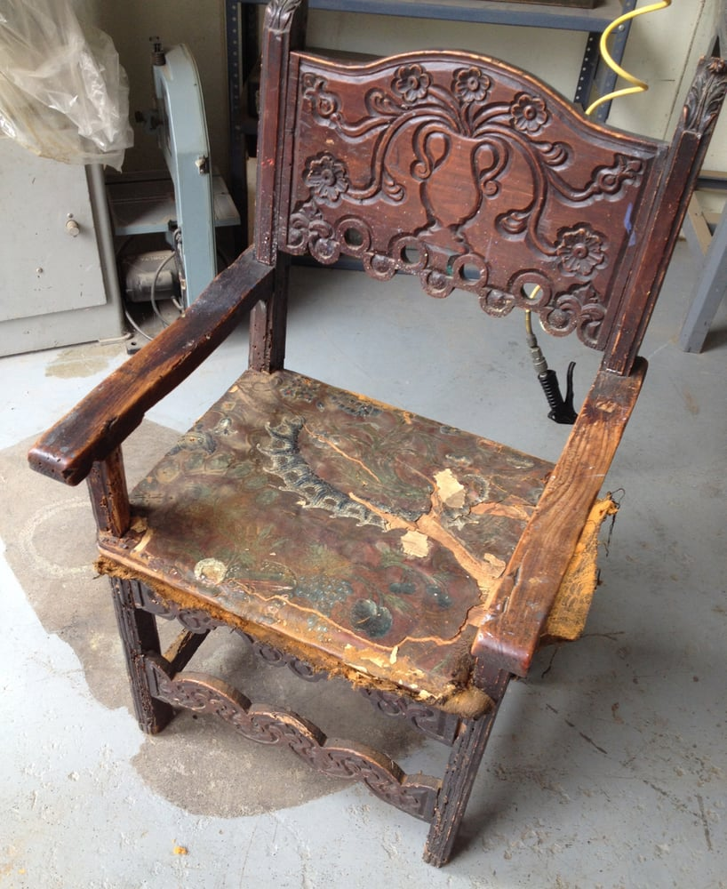 Photo of Case Furniture Stripping & Antique Restoration - East Palo Alto,  CA, United - My Strange Antique Chair; After Paul Removed The Upholstery, We