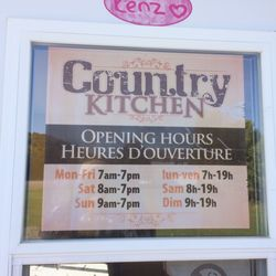 Trend Country Kitchen Hours Painting