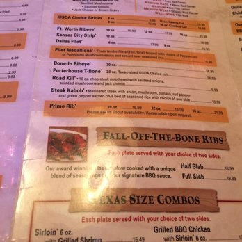 texas roadhouse menu prices pdf